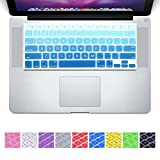 DHZ D6 Big Font Sky Blue Gradient Keyboard Cover Silicone Skin for MacBook Air 13 and MacBook Pro 13' 15' 17' (Not Fit 2016 Macbook Pro 13 15 with/without Touch Bar) US Layout
