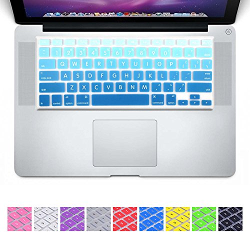 Blue Gradient Keyboard Cover Silicone Skin for MacBook Air 13 and MacBook Pro 13