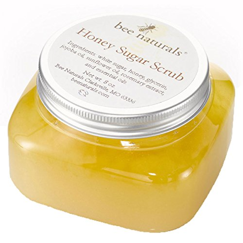 Bee Naturals Best Body Scrub - Natural Honey Sugar Exfoliator for Body, Face and Hands - Brightens, Softens, Cleans and Smoothens Skin - Gently Rejuvenates and Improves Complexion and Skin (Natural Sugar Scrub)