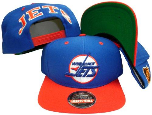 Winnipeg Jets Blue/Red Two Tone Adjustable Plastic Snap Back Hat/Cap – DiZiSports Store