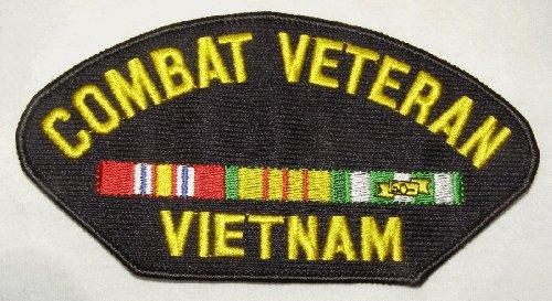 COMBAT VETERAN VIETNAM (W/RIBBONS) PATCH - Veteran Owned Business
