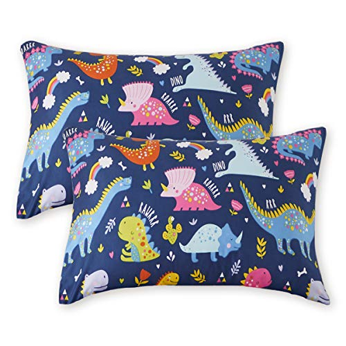 Uozzi Bedding 2 Pack Toddler Pillowcases, 19 x 14 inches Pillow Case for Boys, Girls, Infant, Kids, Ultra Soft and…