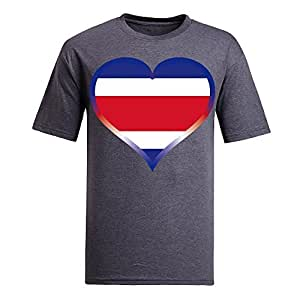 Brasil 2014 FIFA World Cup Mens Football Background Short Sleeve Cotton T-shirt for Fans gray