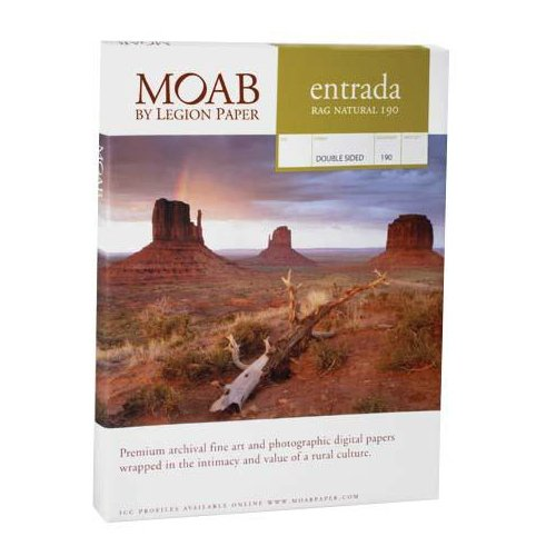 Moab Entrada Rag Natural 190 13x19 Double Sided 25 Sheets