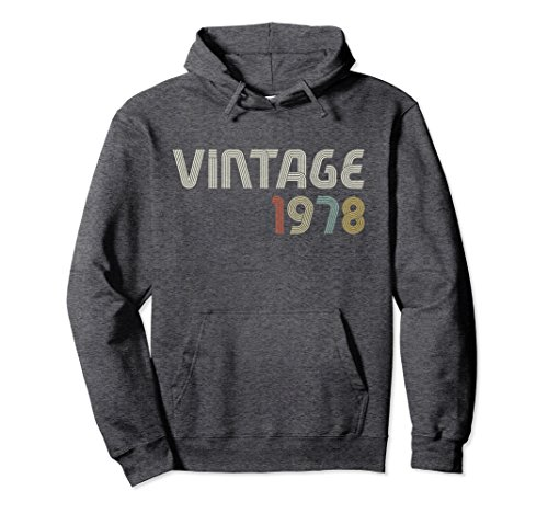 Unisex Vintage 1978 1970's Style Retro Hoodie Small Dark - The 70s Was Who Popular In