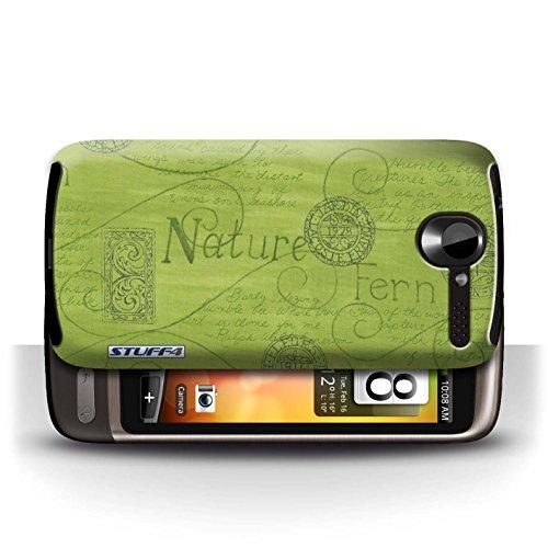 Etui / Coque pour HTC Desire G7 / Vert conception / Collection de Motif Nature