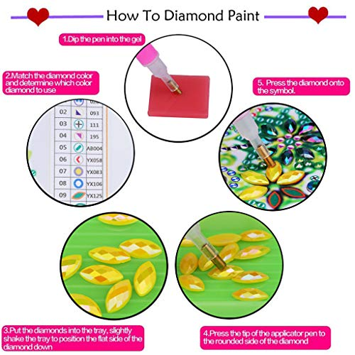Diamond Painting Bookmarks – DIY Diamond Painting Kits for Adults Kids Beginner – Painting for 5D DIY Bookmarks with…
