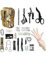 Survival Gear and First Aid Items Kit, Multi-Purpose Professional Survival Equipment SOS Emergency Tool for Camping, Hiking, Earthquake and Adventures