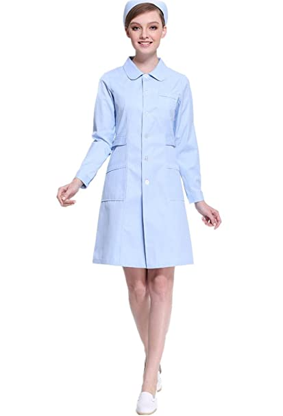 d555c1c909d XinAndy Women's Lab Coat Uniform Dress: Amazon.ca: Clothing ...