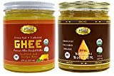 100% Organic Grass-Fed Cultured Ghee and Brown Butter Ghee Certified Paleo, 8 Fl Oz Jar (1 jar of each) …