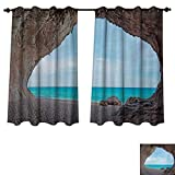 RuppertTextile Natural Cave Blackout Thermal Curtain Panel Dreamy Cara Luna Cave by The