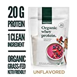 Natural Force® Organic Whey Protein Powder 13.8 oz.*Premium Unflavored* A2 Grass Fed Whey Protein Concentrate - Ranked #1 Best Organic Whey - Certified Keto, Paleo Friendly, Non-GMO and Humane