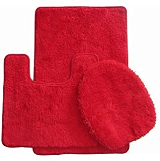Royal Plush Collection 3 Piece Bathroom Rug Set, Bath Mat, Contour And  Toilet