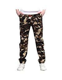 CNMUDONSI Big and Teenager Boys Pants Cotton Long Casual Spring Autumn Clothing (14, M707-Green)