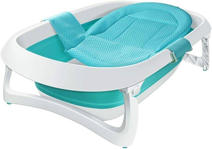 ベビーシャワートレイ、ポータブルバスタブ、子供用折りたたみシャワートレイ、0〜3歳の赤ちゃんに最適、豪華な折りたたみ式新生児用浴槽、バスタブ、2色(色:緑)