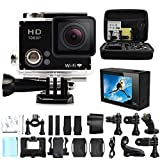 Sogo® 2.0 Plus Go Pro Action Camera Bundle with 32GB sd card, Bag and Accessories (16 Items)