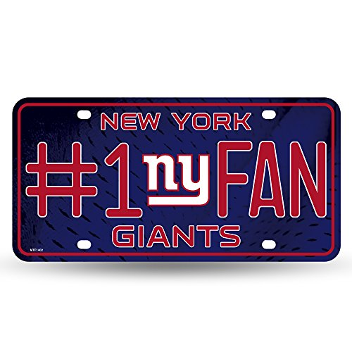 NFL New York Giants #1 Fan Metal License Plate Tag -