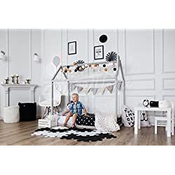 Toddler bed, play house bed frame, children bed, bunk bed, home bed, wood house, floor bed, teepee bed, wooden bed, wood house CRIB SIZE