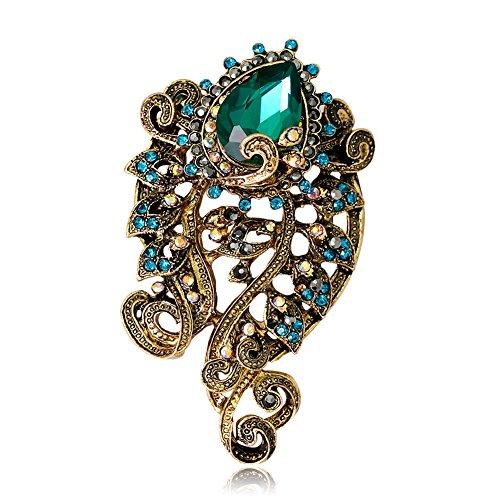 ExhilaraZ Brooches Vintage Rhinestone Octopus Women Brooch Pin Clothes Scarf Handbag Jewelry Decor from ExhilaraZ
