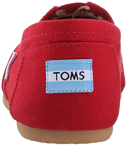 Tom 001001b07-red: Classic Canvas Women Slip-on Rosso (rosso, 6,5 B (m) Us)