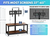 FITUEYES Floor TV Stand with Mount Height