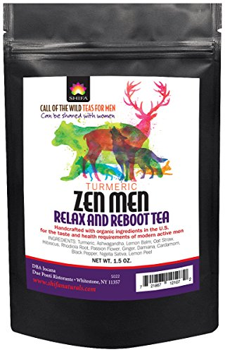 Shifa Turmeric Zen Men Relax and Reboot Tea with Herbs, Phytonutrients and  Antioxidants (1 5 oz )