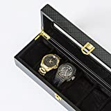 SMB Group Watch It Box 6 Piece Watch Holder in Carbon Fiber with Window