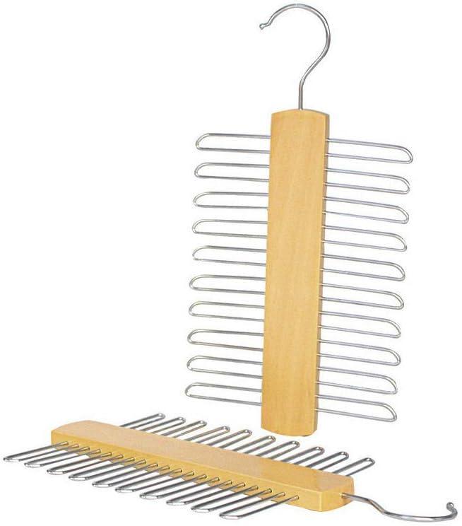 Krawattenhalter Krawattenb/ügel aus Holz f/ür Mantelschal G/ürtel Rack Aufbewahrung Mein HERZ 2 St/ück Kleiderb/ügel 15 x 30 cm Krawattenhalter Buche//Metall