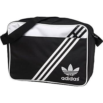 48ae09e2c9ad adidas Originals Mens Airliner Messenger Bag Shoulder Bag Black And White