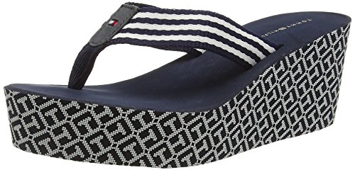 Tommy Hilfiger M1285andy 1d, Sandalias Flip-Flop para Mujer Azul (MIDNIGHT 403)