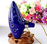 YYGIFT 12 Hole Zelda Ocarina From Legend of Zelda Alto C,with Songbook ,Protective Bag and Rope