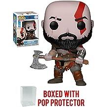 Funko Pop! Games: God of War - Kratos with Axe Vinyl Figure (Bundled with Pop Box Protector Case)
