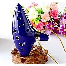 OFKP® Blue 12 Holes Ocarina Ceramic Alto C Legend of Zelda Zelda Ocarina Flute