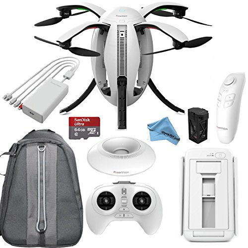 PowerVision PowerEgg Drone with 360 Panoramic 4K HD Camera and 3-axis Gimbal + High Speed 64GB Memory Card & more... by Power Vision