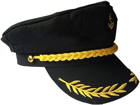 Amosfun Gorra del capitán Yate Ajustable Gorra del capitán Sailors ...