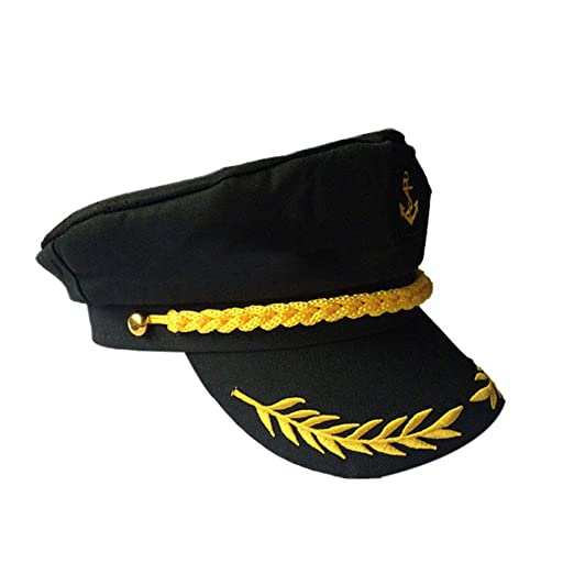 LUOEM Sombrero de capitán de yate Ajustable para Marineros Gorra ...
