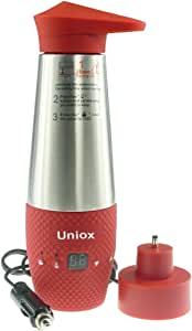 Uniox Car Cigarette Lighter DC12V Electric Kettle Boil Water Heating Cup Vacuum Insulated Automatic Working Red