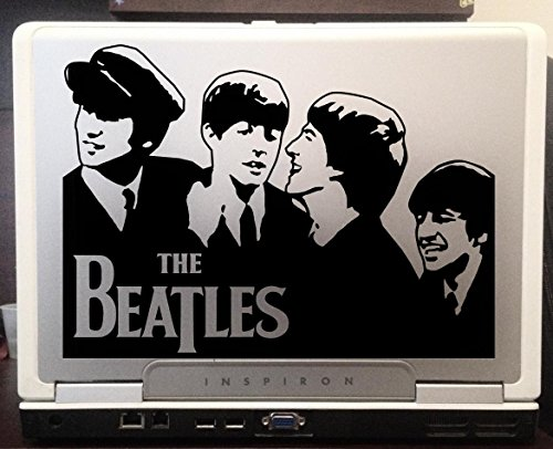 The beatles band members album cover picture fab four beautiful silhouette car truck laptop macbook window decal sticker 8x5 inches black