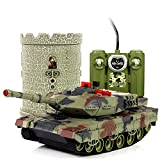 Abrams vs. Terrorist Fort Combat Fight M1A2 USA Tank RC Infrared Battle Panzer by Poco Divo