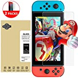 Lighting Deals, ToHayie Nintendo Switch Protector Glass Anti-shock Protective Glass 9H Hardness 0.33mm Full Coverage Screen Film for Nintendo Switch 2017 (2 Pack)