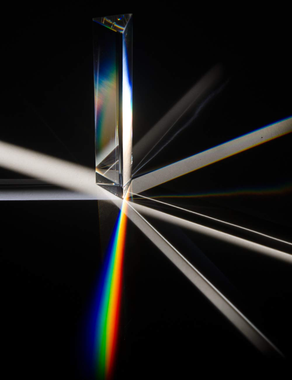 """Prism Photography Prism Photographer Gifts Optical Glass Triangular Prism 6""""Used for Teaching Light Spectrum Physics Rainbow Manufacturer Sun Catcher 150mm Lisheng Crystal Science Education"""