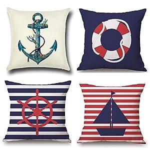 51eW-nvxBVL._SS300_ 100+ Nautical Pillows & Nautical Pillow Covers