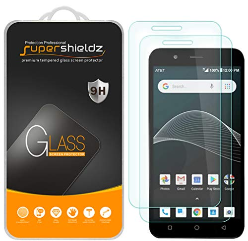 (2 Pack) Supershieldz for Cricket Vision Tempered Glass Screen Protector, Anti Scratch, Bubble - Screen Protector Cricket
