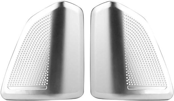Steel Inner Door Audio Stereo Speaker Cover Trim For BMW X5 F15 X6 F16 2015-2018