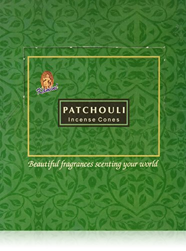- Kamini Cones Incense Case, Patchouli, 12 Piece