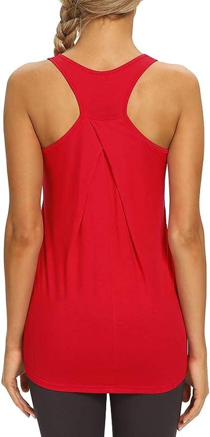 Yoga Gym Sport Tops /Ärmellos MOROTAI Performance Stringer Fitness Training Tanktop Damen Workout Zumba Shirt