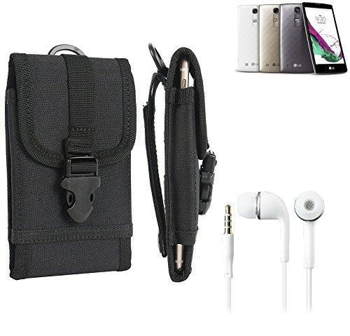 bolsa del cinturón / funda para Huawei Ascend G600, negro + Auriculares   caja del teléfono cubierta protectora bolso - K-S-Trade (TM)