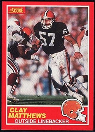 low priced a9546 e08e0 Amazon.com: 1989 Score Football #127 Clay Matthews Cleveland ...