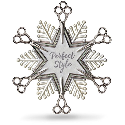 Hallmark Keepsake Christmas Ornament 2018 Year Dated, Hairdresser Snowflake Scissors Holiday Style,