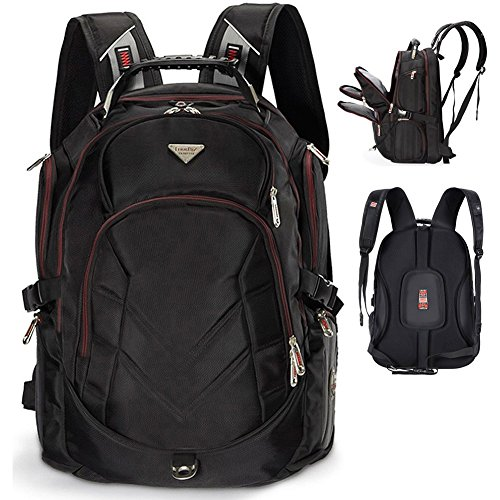 Laptop Backpack, 19 Inch FreeBiz Travel Bag Knapsack Rucksack Backpacks Hiking Bags Students School Shoulder Backpack Fits up to 19.5 Inch Dell, Asus, Msi Gaming Laptops Macbook Computer (Black)